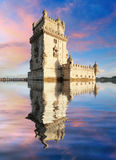 Turm Lissabons, Belem - der Tajo, Portugal Stockfotos
