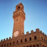 Turm Palazzo Vecchio Arnolfo in Florenz Stockbilder