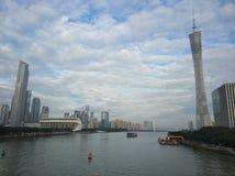 Turm Pearl River Chinas Guangzhou Guangzhou Lizenzfreie Stockbilder