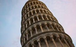 Turm Pisa am Abend Stockbilder