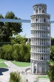 Turm Pisa, das Italien Mini Tiny lehnt Lizenzfreie Stockfotos