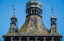 Turm in Sighisoara Stockbild
