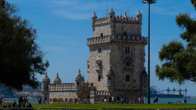 Turm Torre de Belém/Belem stockfotografie