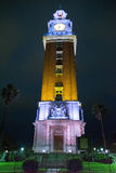 Turm Torre de Los Ingleses English nachts in Buenos Aires stockfotos