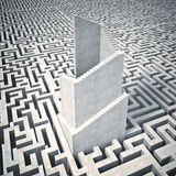 Turm und Labyrinth Stockfoto