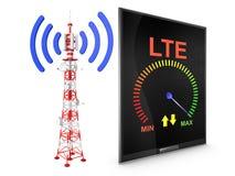 Turm und moderne Tablette Lizenzfreie Stockbilder