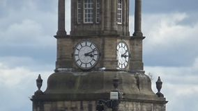 Turm und Uhr stock video footage