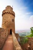 Turm und Wand Auerbach bleibt, Deutschland stockfoto