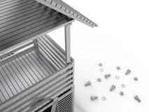 Turm und Werkzeuge, 3D Stockfoto