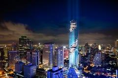 Turm und Wolkenkratzer MahaNakhon Lizenzfreies Stockbild