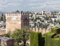 Turm von Alhambra Lizenzfreies Stockbild