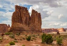 Turm von Babel Arches National Park Stockbild
