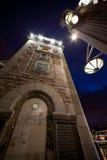 Turm von Bolsheohtinskij-Brücke Lizenzfreie Stockfotografie