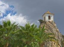 Turm von Guadalest Stockbild