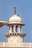 Turm von Itmad-Ud-Daulah` s Grab - Agra, Indien Stockbilder