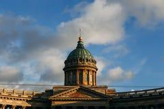 Turm von Kasan-Kathedrale in St Petersburg Stockbild