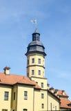 Turm von Nesvizh-Schloss, Weißrussland Stockbild