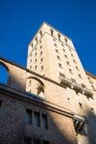 Turm von Santa Maria de Montserrat-Abtei Stockfotos