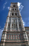 Turm von Santa Maria del Fiore Cathedral, Florenz Stockfoto