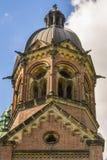 Turm von St. Lukas Church in München, Bayern, Deutschland Stockfotografie