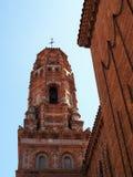 Turm von Uberto From Aragon, Replik bei Poble Espanyol, Barcelona, Spanien lizenzfreie stockbilder