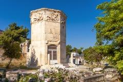 Turm von Winden auf Roman Agora, Athen, Griechenland Lizenzfreies Stockfoto