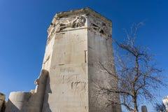 Turm von Winden im römischen Markt in Athen Griechenland, ist es Glockenturm, der arbeitete als ` Uhr ` Stockfotos