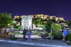 Turm von Winden oder von Aerides auf Roman Agora, Athen, Griechenland Lizenzfreie Stockbilder