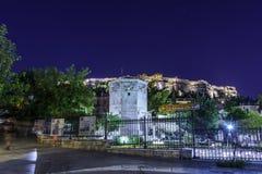 Turm von Winden oder von Aerides auf Roman Agora, Athen, Griechenland Lizenzfreie Stockfotografie