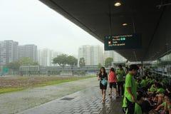 Turma escolar na viagem de escola em Singapura fotos de stock