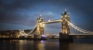 Turmbrücke nachts, London Lizenzfreies Stockfoto