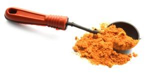 Turmeric σκόνη με το κουτάλι Στοκ φωτογραφία με δικαίωμα ελεύθερης χρήσης