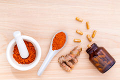 Turmeric for alternative medicine . Royalty Free Stock Image