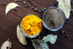Turmeric and black pepper Stock Photo