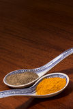 Turmeric and black pepper Royalty Free Stock Images