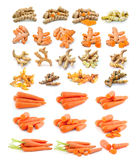 Turmeric  carrot  isolated on white background Stock Image