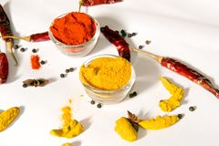 Turmeric Chili. In Bowl Royalty Free Stock Image