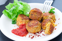 Turmeric And Chili Spiced Veggie Balls Stock Photography