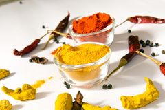 Turmeric Chili. In Bowl Royalty Free Stock Images