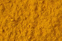 Turmeric or Curcumin Spice. Top view of turmeric or curcumin Spice royalty free stock images