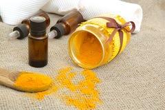 Turmeric essential oil Stock Photo