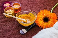 Turmeric face mask set Royalty Free Stock Photography