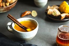 Turmeric with Ginger and CinnamonTea royalty free stock photo