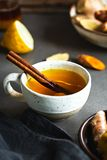 Turmeric with Ginger and CinnamonTea stock images