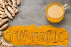 Turmeric healthy drink - Curcuma longa royalty free stock photography