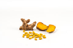 Turmeric healthy herb Stock Image