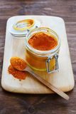 Turmeric in a jar Royalty Free Stock Images
