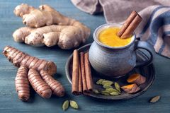 Turmeric Latte Stock Photography