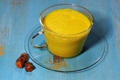 Turmeric latte, golden milk Royalty Free Stock Images