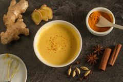 Turmeric and other spicies drink royalty free stock photos